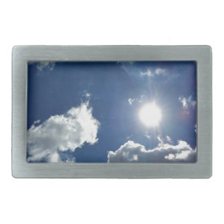 sun and clouds belt buckle