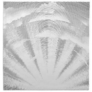 Sun and Clouds Woodcut Cloth Napkin
