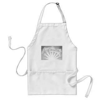 Sun and Clouds Woodcut Standard Apron