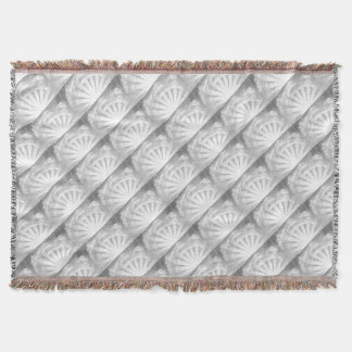 Sun and Clouds Woodcut Throw Blanket