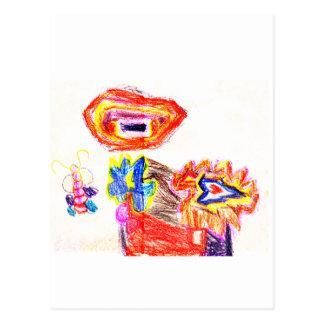 Sun and Flower1 jGibney The MUSEUM Artist Series K Postcard