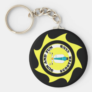 SUN AND FUN LOGO KEYCHAIN (BLACK)
