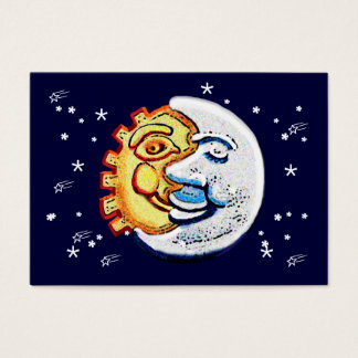 Sun and moon and stars business card