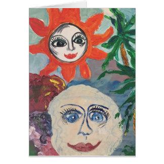 Sun and Moon Blank Card