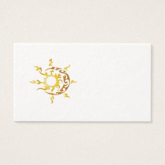 sun and moon business card