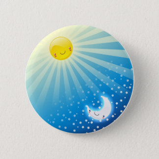 Sun and Moon Buttom 2 Inch Round Button