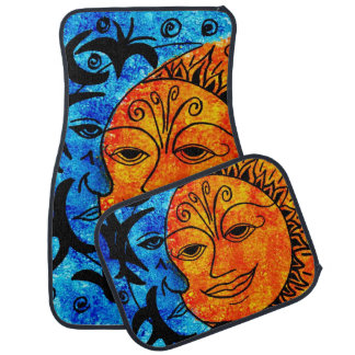 Sun and Moon Car Mats