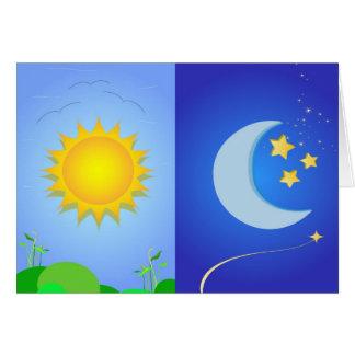 sun and moon card