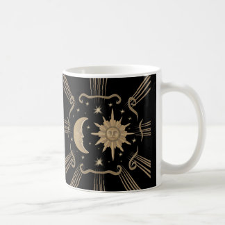Sun and moon coffee cup/mug design. coffee mug
