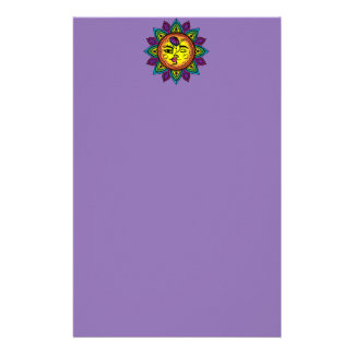 sun and moon customized stationery