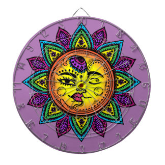 sun and moon dartboard