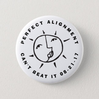 Sun and Moon Eclipse Perfect Alignment 2 Inch Round Button
