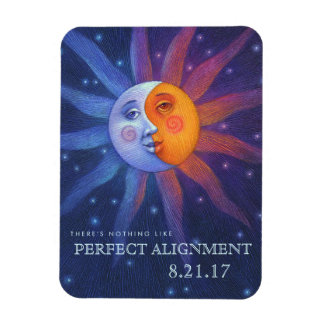 Sun and Moon Eclipse Perfect Alignment 3 x 4 Magnet