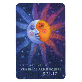 Sun and Moon Eclipse Perfect Alignment 4 x 6 Rectangular Photo Magnet