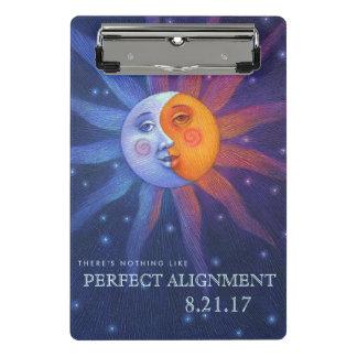 Sun and Moon Eclipse Perfect Alignment Mini Clipboard
