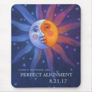 Sun and Moon Eclipse Perfect Alignment Mouse Pad