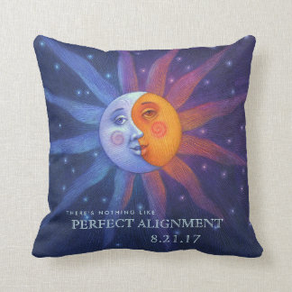 Sun and Moon Eclipse Perfect Alignment Throw Pillow