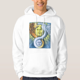 Sun and Moon, Lion and Bird Ouroboros Hoodie