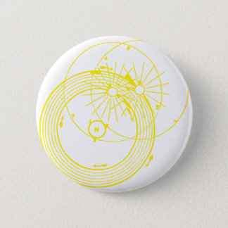 Sun and Moon Orbits Zetetic Astronomy 2 Inch Round Button