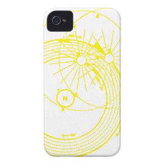 Sun and Moon Orbits Zetetic Astronomy iPhone 4 Case-Mate Cases