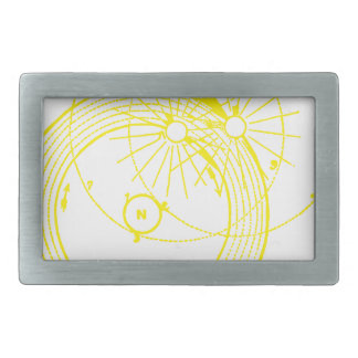 Sun and Moon Orbits Zetetic Astronomy Rectangular Belt Buckle