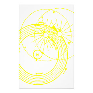 Sun and Moon Orbits Zetetic Astronomy Stationery Paper