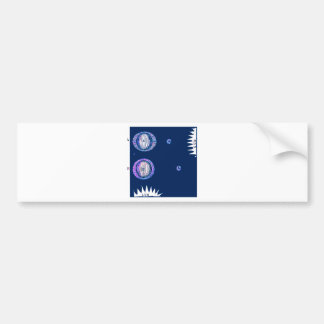 Sun and Moon Outer space Illustration Bumper Sticker
