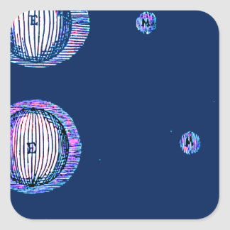 Sun and Moon Outer space Illustration Square Sticker