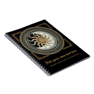 Sun and Moon Pagan Wheel Notebooks