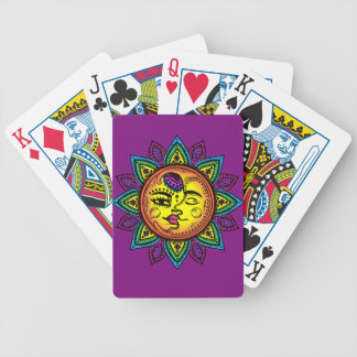 sun and moon poker deck