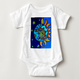 SUN AND MOON PRISARTS PAINTING BABY BODYSUIT