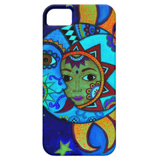 SUN AND MOON PRISARTS PAINTING CASE FOR THE iPhone 5