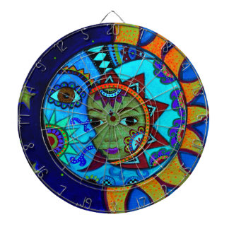 SUN AND MOON PRISARTS PAINTING DARTBOARD