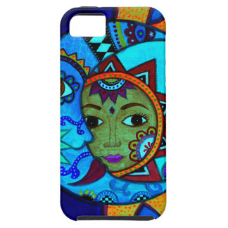 SUN AND MOON PRISARTS PAINTING iPhone 5 CASES
