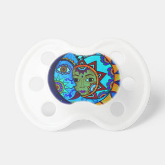 SUN AND MOON PRISARTS PAINTING PACIFIERS