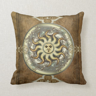 Sun And Moon Reversible Throw Pillow