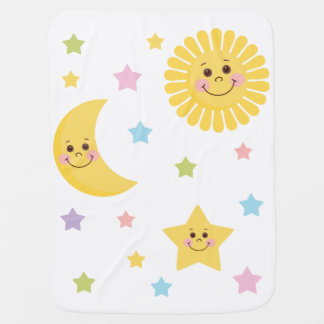 Sun and Moon Swaddle Blankets