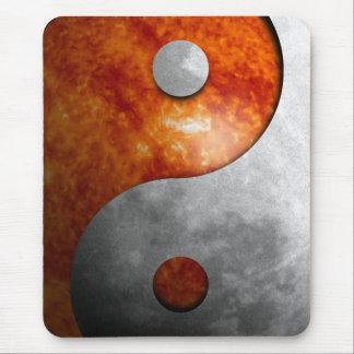 Sun and Moon Yin and Yang Symbol Mouse Pad
