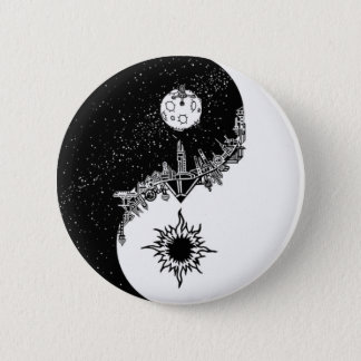 Sun and Moon Yin Yang Button