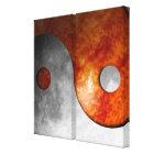Sun and Moon Yin Yang Canvas Print