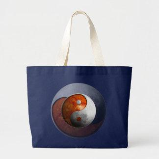 Sun and Moon Yin Yang Large Tote Bag
