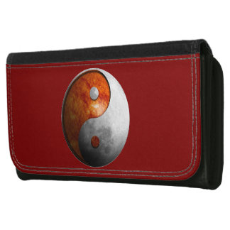 Sun and Moon Yin Yang Leather Wallet For Women