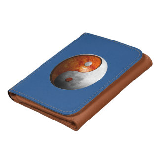 Sun and Moon Yin Yang Leather Wallets