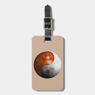Sun and Moon Yin Yang Luggage Tag