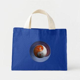 Sun and Moon Yin Yang Mini Tote Bag