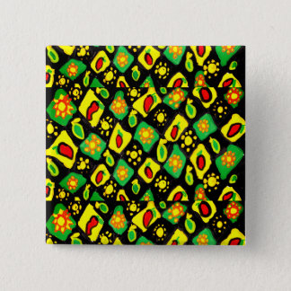 Sun and peppers 2 inch square button
