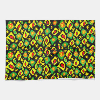 Sun and peppers kitchen towel