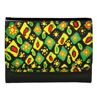 Sun and peppers leather wallet for women