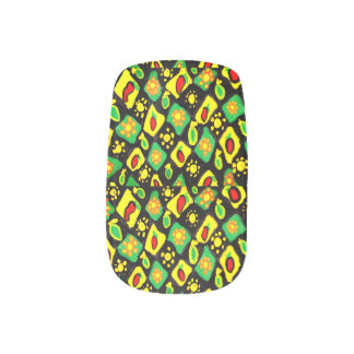 Sun and peppers minx nail art