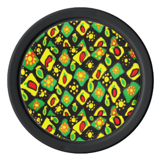 Sun and peppers poker chips